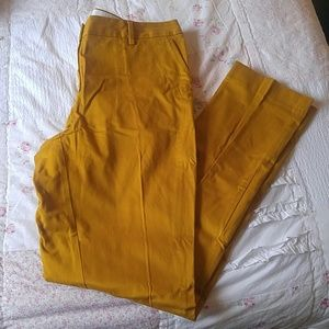 Lands End marigold chinos size 12